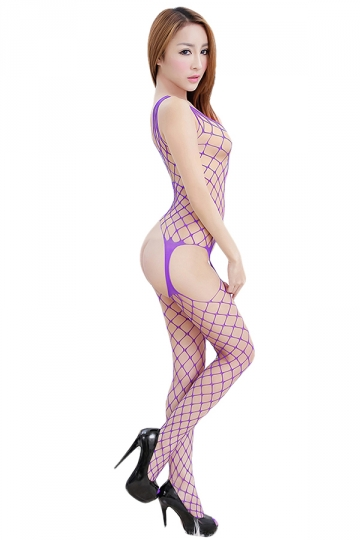 Lingerie Strap Fishnet Cut Out Open Crotch Bare Breasted