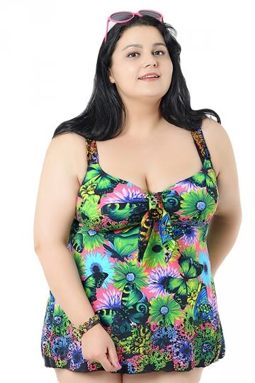 green plus size butterfly printed bikini top amp swimwear
