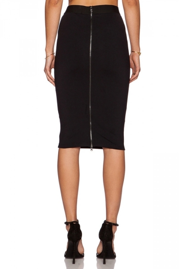 Womens Elegant High Waist Back Zipper Bodycon Pencil Skirt