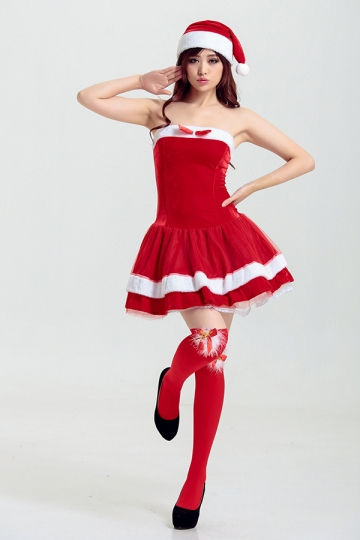 Strapless Christmas Dresses