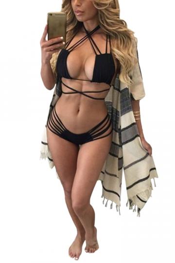 Womens Sexy Micro Mini Bikini Top Amp Strappy Swimsuit Bottom