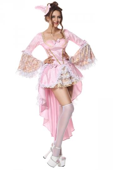 halloween costumes sexy marie antoinette baroque fancy dress pink pink queen. Black Bedroom Furniture Sets. Home Design Ideas