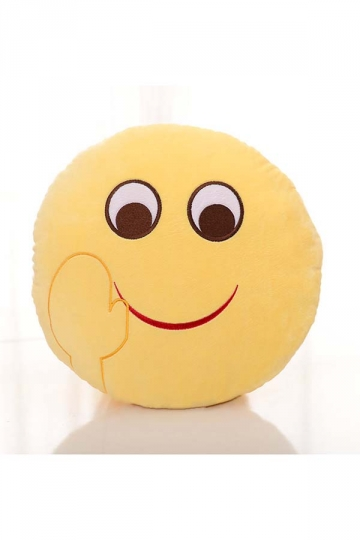 Cute Emoji Bye Face Round Cushion Soft Throw Pillow 12